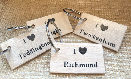 Printed Wooden Keyring - Bespoke Options Available