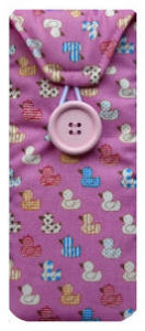 Pink Quacky Duck Print Glasses Case