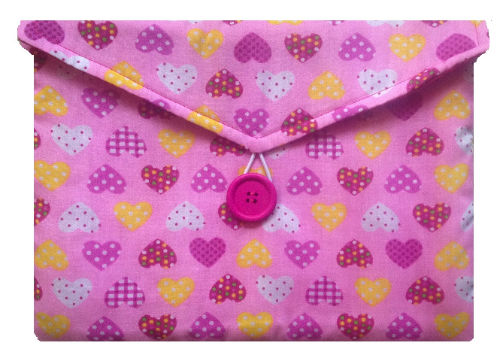 Pink Hearts Print Tablet Bag - Miss Pretty London UK Limited