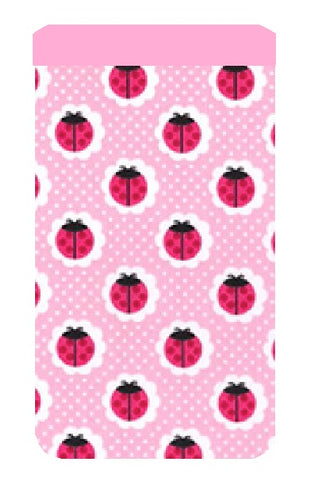 Pink Ladybird Print Mobile Phone Sock Pouch