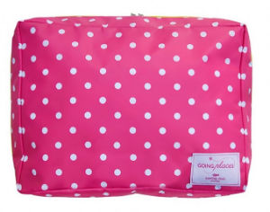 Fuchsia Pink Polka Dot Washbag - Miss Pretty London UK Limited