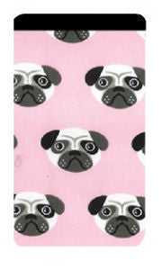 Pink Pug Print Mobile Phone Sock Pouch