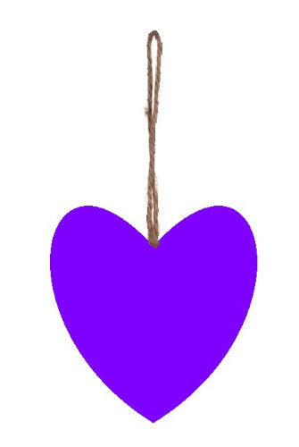 Plain_Purple_Plump_Fabric_Hanging_Heart