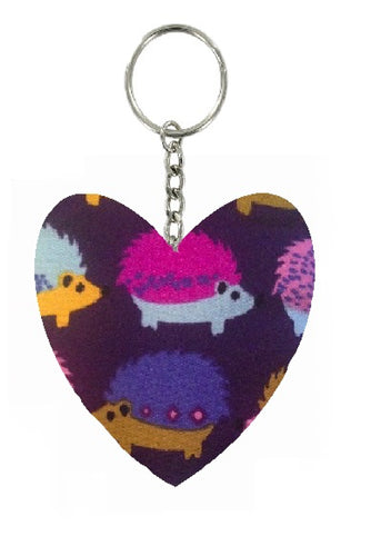 Purple_Hedgehogs_Print_Heart_Keyring
