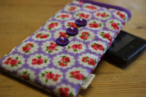 Purple_Roses_Print_Mobile_Phone_Sock_Pouch