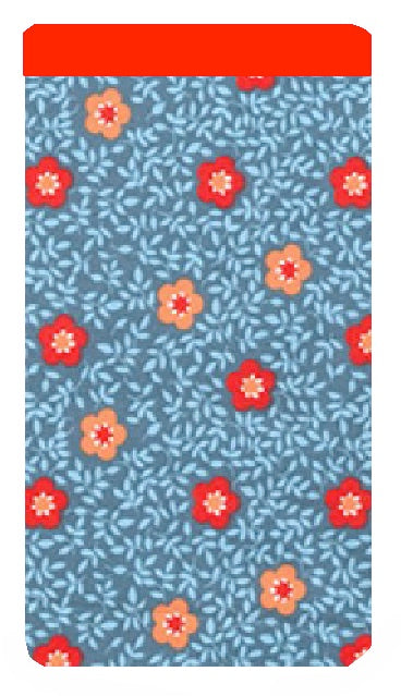 Red and Orange Flowers Print Mobile Phone Sock Pouch