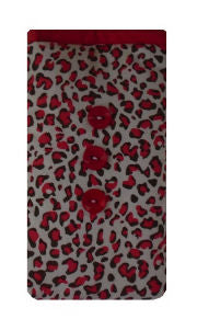 Red Animal Print Mobile Phone Sock Pouch - Miss Pretty London UK Limited