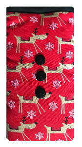 Red Reindeers Print Mobile Phone Sock Pouch - Miss Pretty London UK Limited