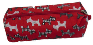 Red Scottie Dogs Print Pencil Case