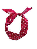 Red Wine Polka Dot Print Wire Headband