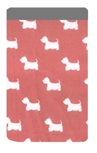 Rosy Red Scottie Dog Print Mobile Phone Sock Pouch