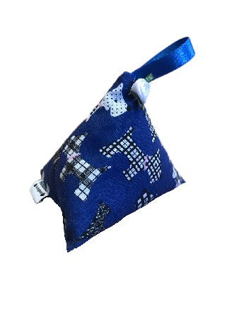 Royal Blue Scottie Dogs Print Lavender Bag
