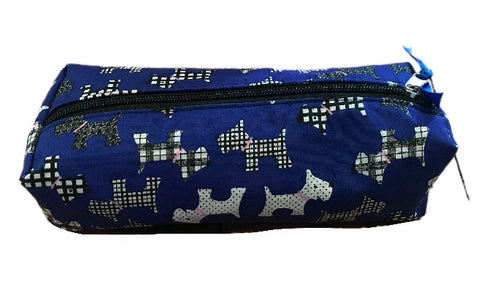 Royal Blue Scottie Dogs Pencil Case
