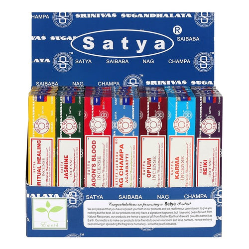 SATYA INCENSE STICKS - VARIOUS AVAILABLE - Miss Pretty London UK Limited