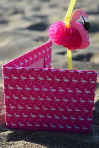 Pink Flamingo Print Card Wallet