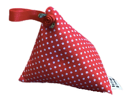 Mini Red Polka Dot Print Lavender Bag