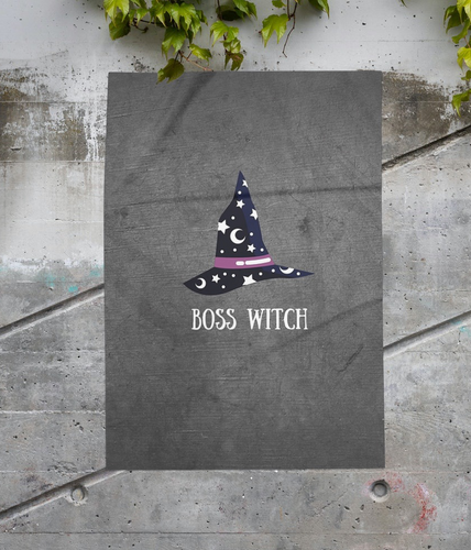 Boss Witch A4 Poster Print - WKTM003 - Miss Pretty London UK Limited