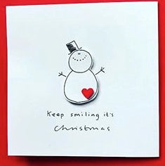 Snowman Christmas Greeting Card - WH016