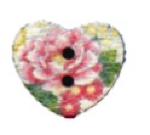 Spring_Roses_Print_Wooden_Heart_Buttons_-_Pack_of_5