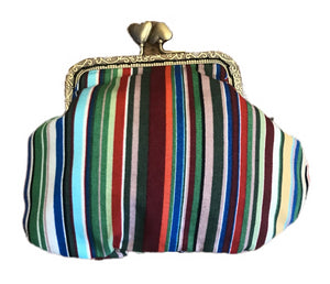 Striped Print Coin Purse