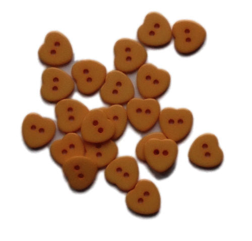 Tangerine_Plastic_Heart_Buttons_-_Pack_of_10