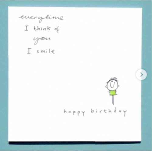 Make Me Smile Birthday Greeting Card - WCC10 - Miss Pretty London UK Limited