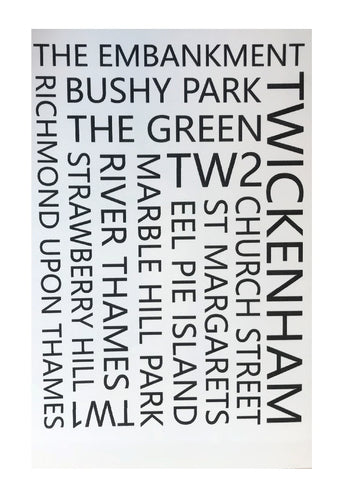 Twickenham Theme Greeting Card - CTPLB