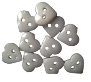 White_Plastic_Heart_Buttons_-_Pack_of_10