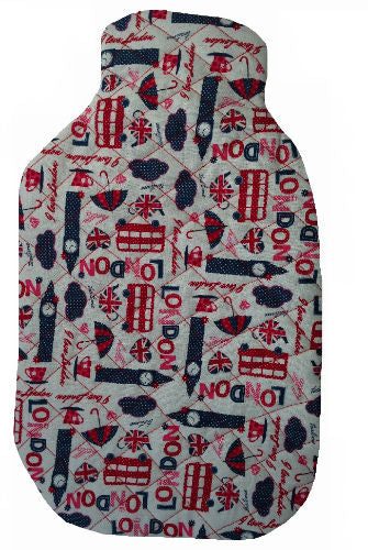 White_London_Print_Hotwater_Bottle_Cover