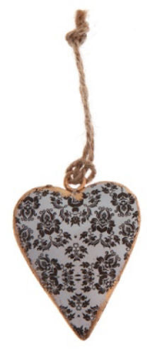 White Hanging Heart Decoration - Miss Pretty London UK Limited