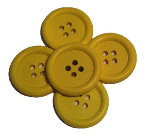 Yellow__Buttons_-_Pack_of_Five