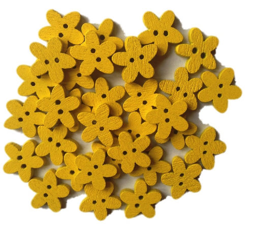 Yellow_Wooden_Flower_Buttons_-_15mm