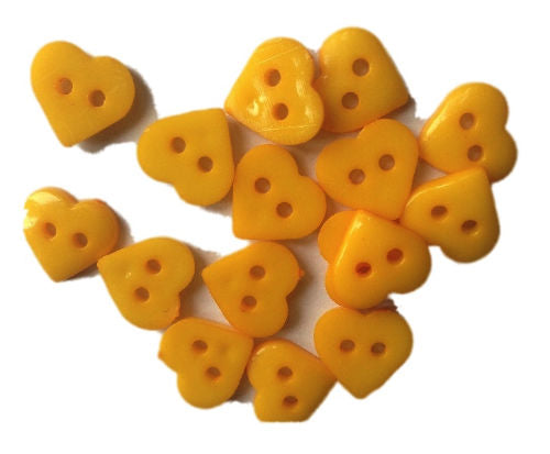 Yellow_Plastic_Heart_Buttons_-_Pack_of_10