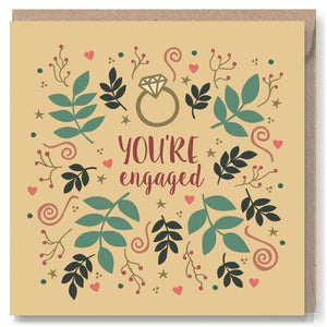 You're Engaged Greeting Card - Miss Pretty London UK Limited