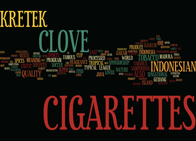 Clove cigarettes when burning cloves meeting the natural herbs