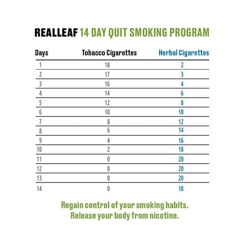 stop smoking with herbal cigarettes