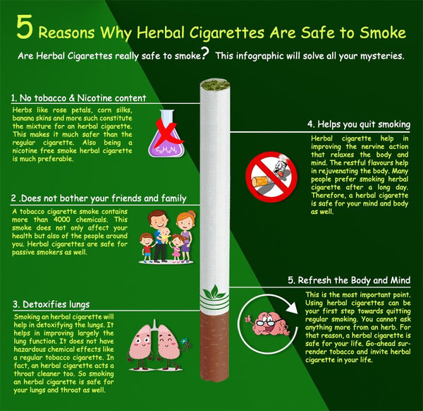 herbal cigarettes are safe to smoke
