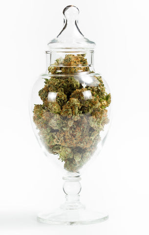 Give the herb the respect it deserves and gets a glass container for weed, and nothing else.
