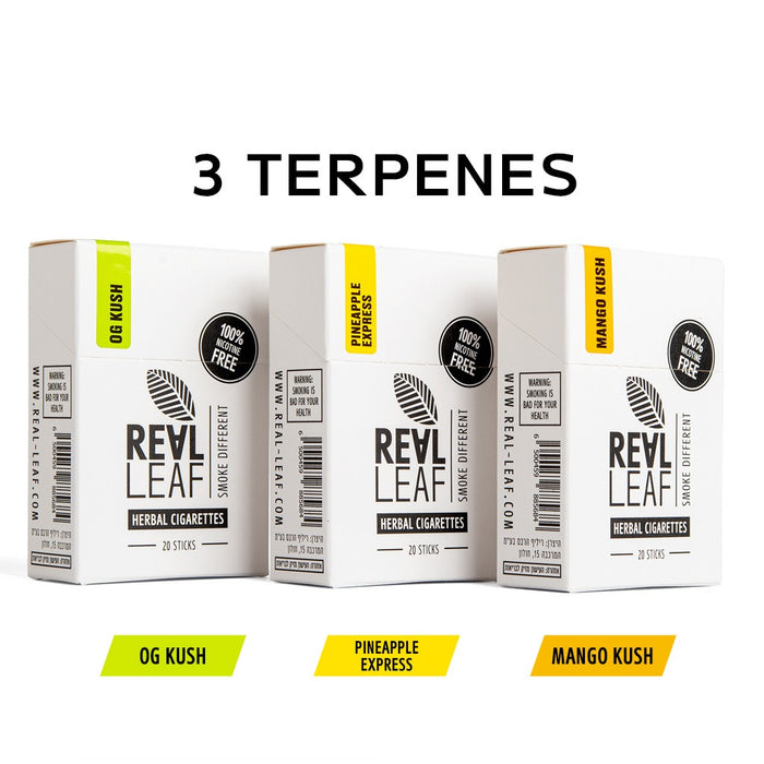 Herbal Cigarettes With Natural Terpenes -3 packs 60 Smokes