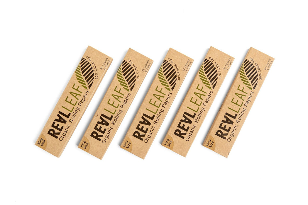 ORGANIC UNBLEACHED ROLLING PAPER + TIPS -  5 PACKS