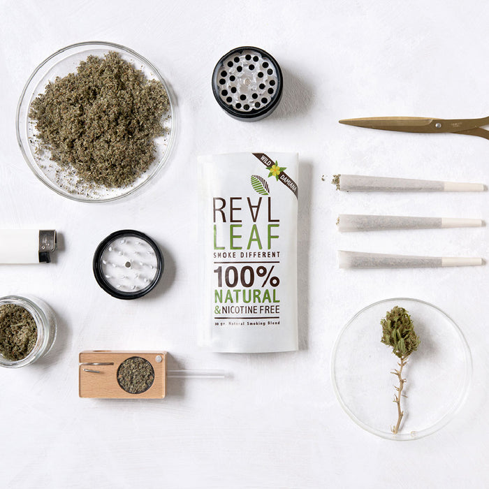 wild damiana herbal smoking blend by real leaf