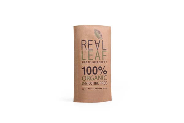 RealLeaf herbal smoking blends 100% nicotine free