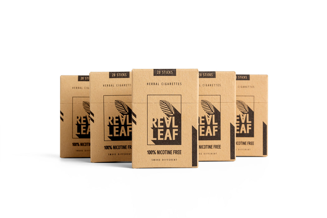 100 sticks of Herbal Cigarettes - 100% Nicotine Free & Tobacco by RealLeaf