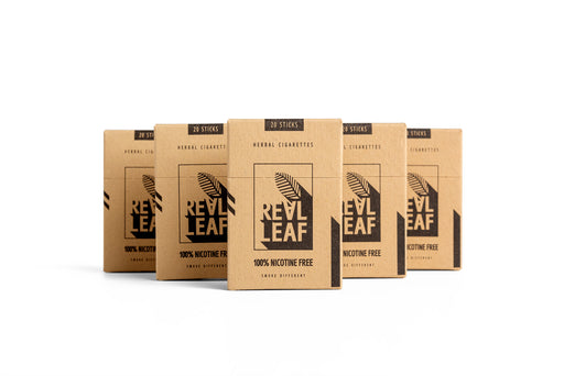 Herbal Cigarettes - 100% Nicotine Free & Tobacco 100 sticks by RealLeaf