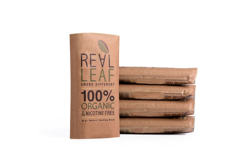 RealLeaf herbal blends tobacco made from 100% smokable herbs
