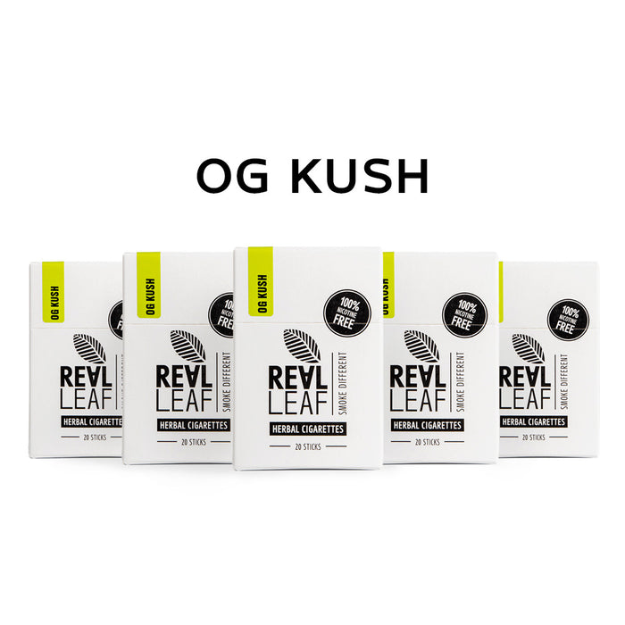 Smoking terpenes of OG Kush in herbal cigarettes