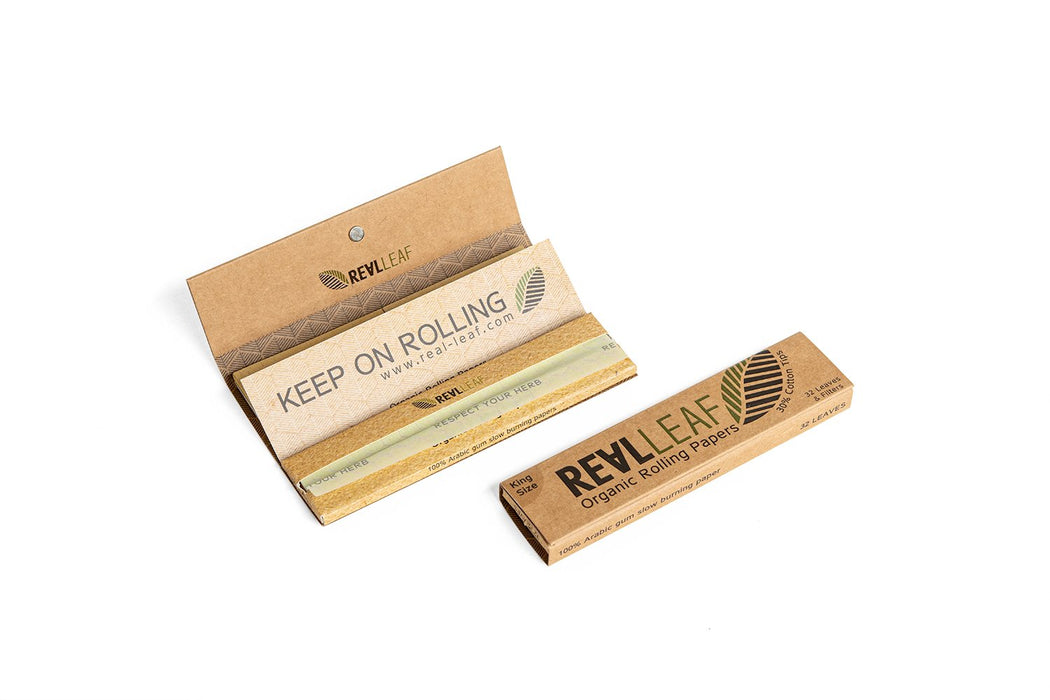 ORGANIC UNBLEACHED ROLLING PAPER + TIPS - 22 PACKS