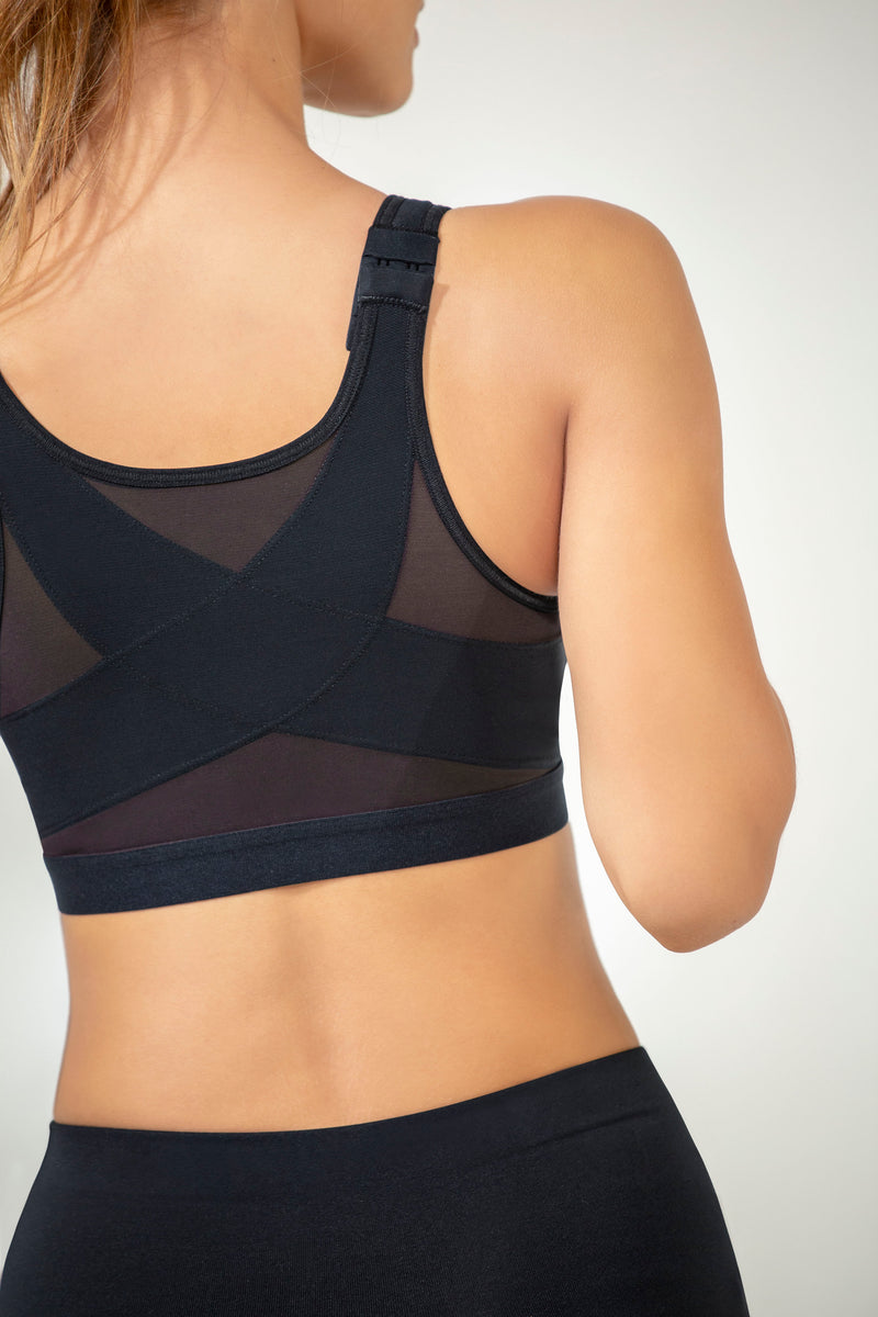 Back Support Posture Corrector Wireless Bra - Multi/Functional