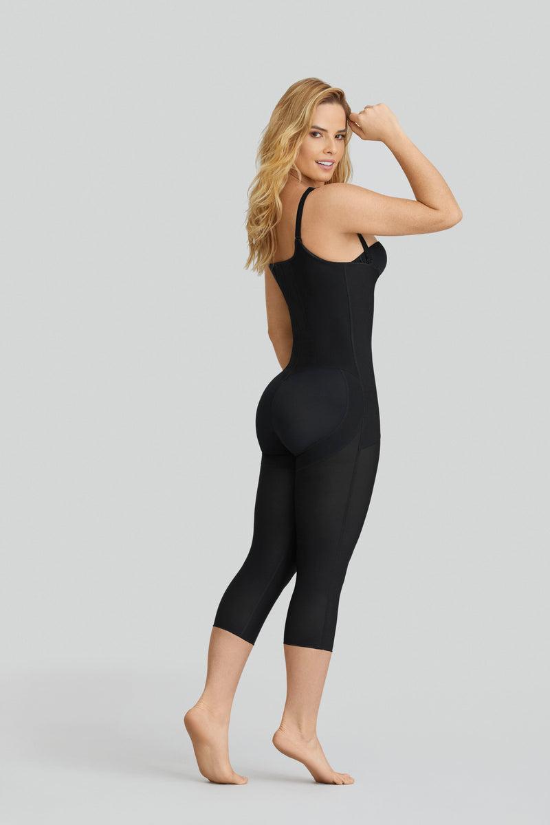 Hook-and-Zip Mid-Calf Sculpting Body Shaper