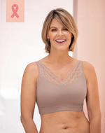 Pocketed Mastectomy Bra – Wireless, Lace, Removable Padding